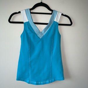 2/$40 Lululemon blue V neck size 6 tank top